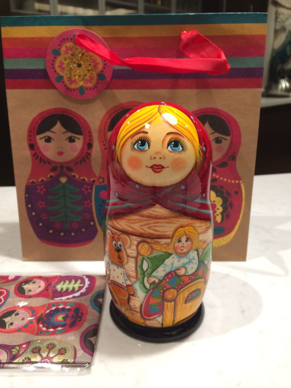 Attention to detail is wrapping a Russian nesting doll in Russian nesting doll wrapping paper.