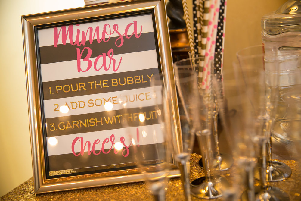 Bachelorette Lingerie Shower Mimosa Bar