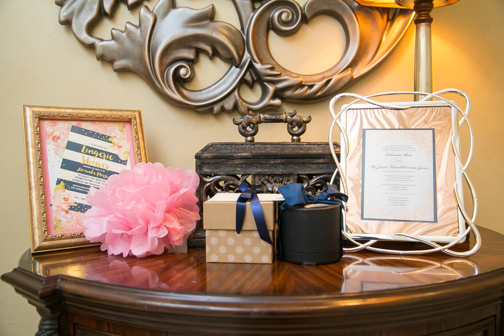 Bachelorette Lingerie Shower Welcome Table