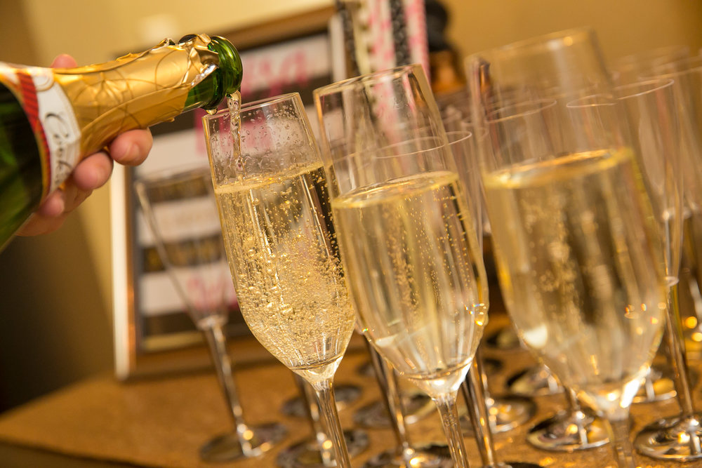Bachelorette Lingerie Shower Champagne