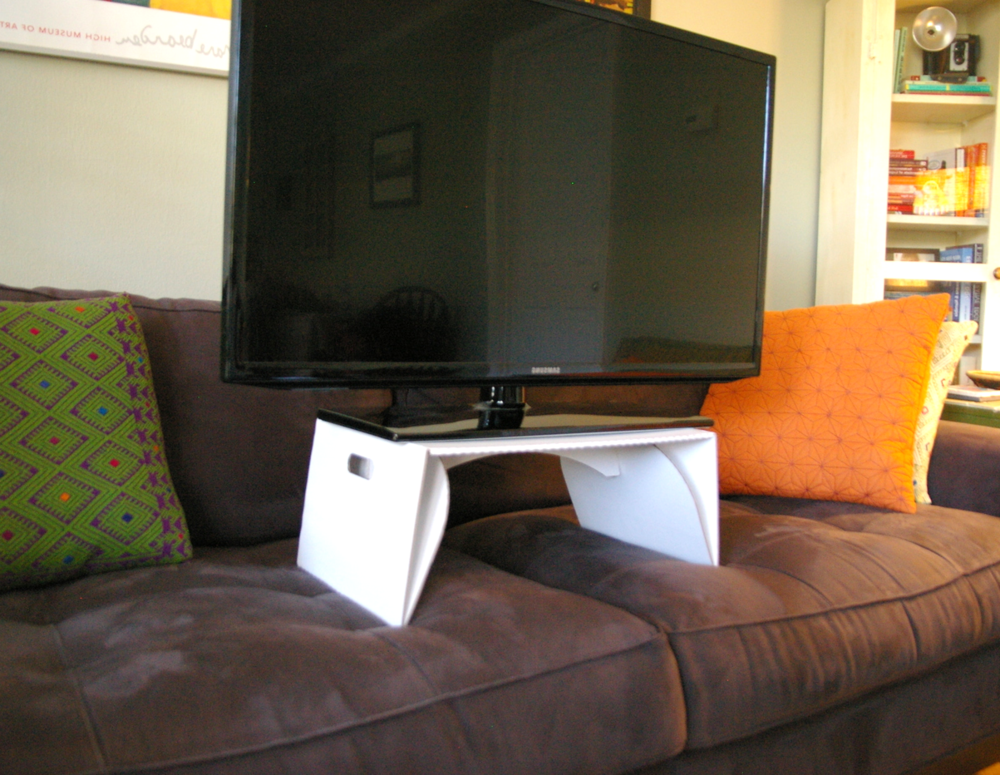 TV on lapdeck