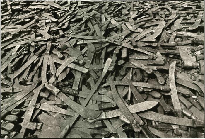 Machetes used in Rwandan genocide