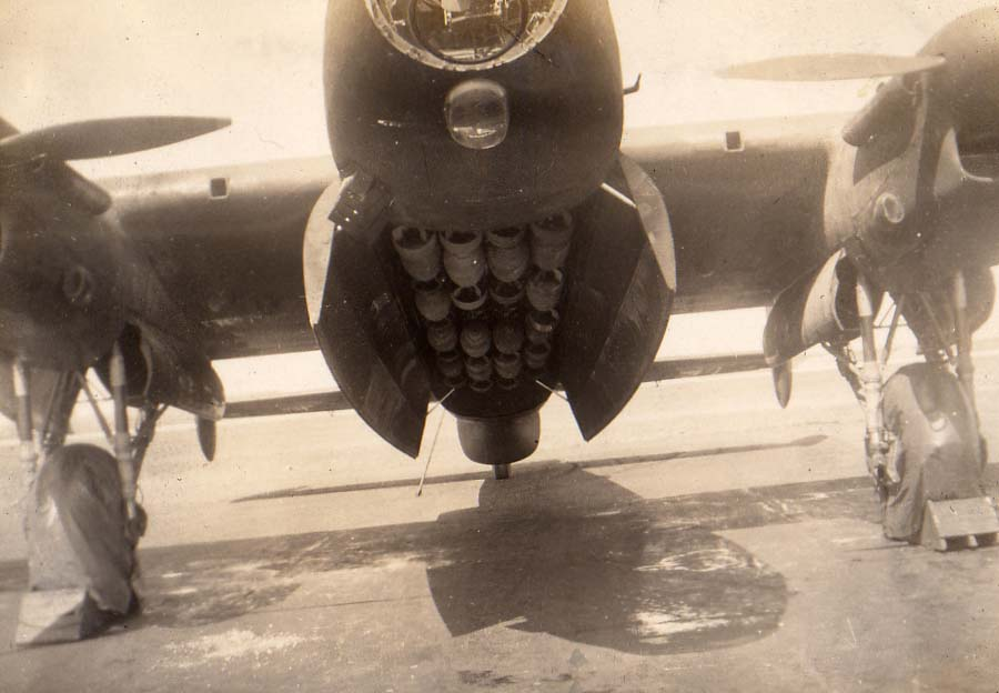 'Loaded, 1944.' From my grampa's photos over four tours of duty.