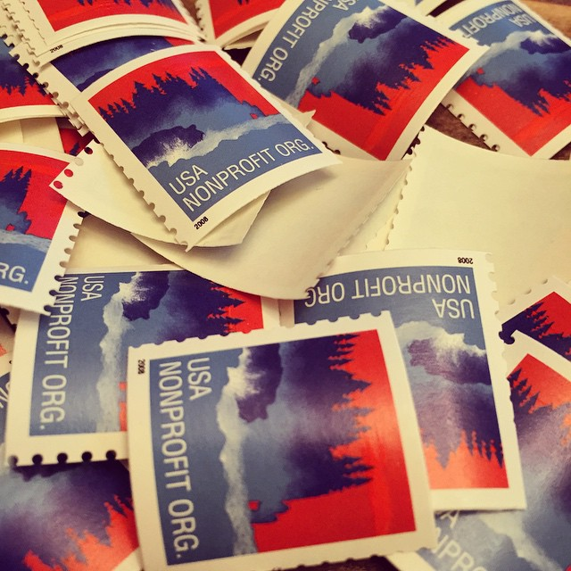 Year end mailing. Lots of stamps. #stampsonstamps