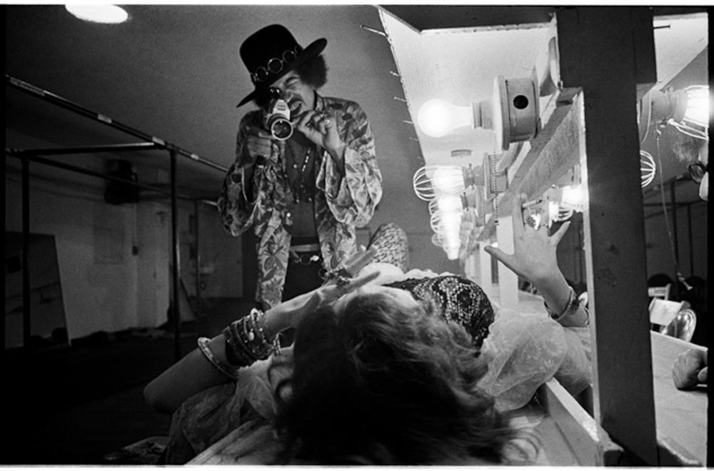 Jimi filming Janis Joplin