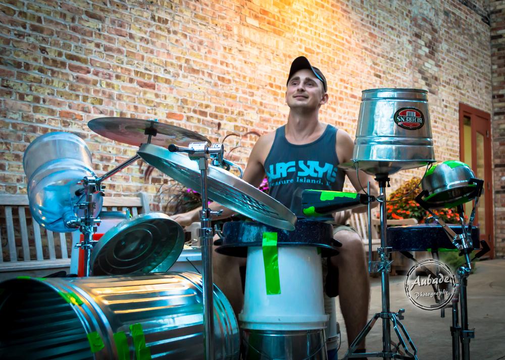 eau claire photographer aubade photography wis dells drummer 4