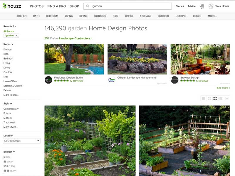 THE HOUZZ APP IS A GREAT SOURCE OF INSPIRATION OF HIGH QUALITY GARDENS AND LANDSCAPE DESIGNS.