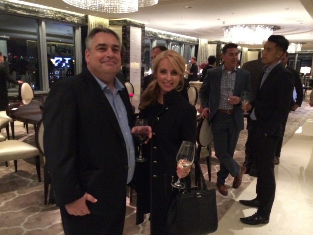 PICTURED ABOVE: Frank Sutherland, President of Gold Asia Management – a wealth management firm in Hong Kong – networks with Connie Blumenthal, broker with RSIR.