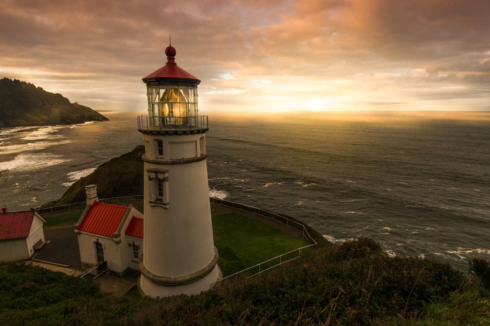 Heceta Head Lighthouse on the Oregon Coast