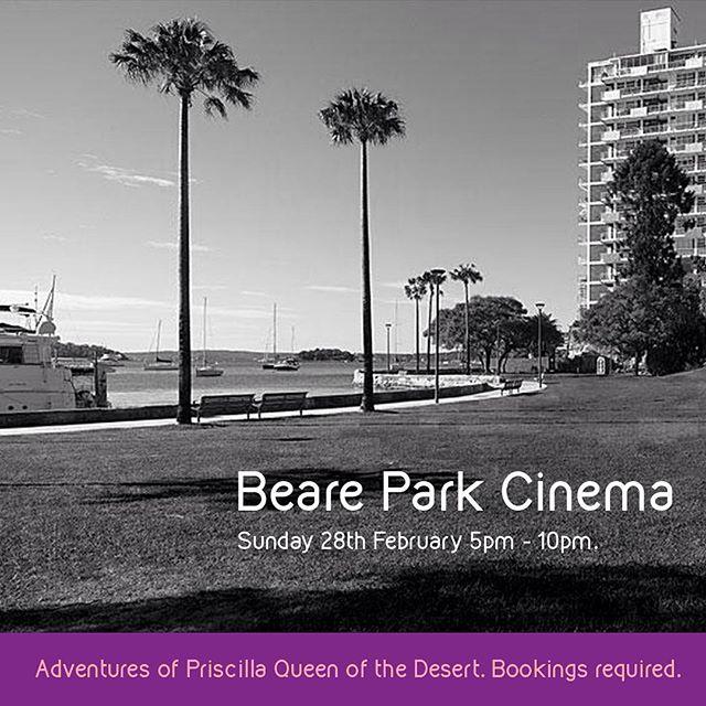 The Beare Park Cinema is almost sold out, so get in quick! #kingscrossfestival #elizabethbay #pottspoint @sydneymardigras