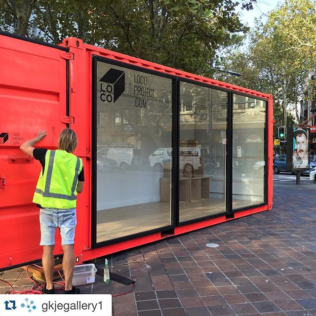 #Repost @gkjegallery1 with @repostapp. ・・・ @gkjegallery1 goes @locoproject for @kingscrossfestival  Install today with @wolfnkitten  Opening tomorrow 4-5.30PM #kingscrosscolour #gallery #exhibition #local @cityofsydney #art #artmonth #kingscrossfestival #kingscross #pottspoint @pottspointpartnership