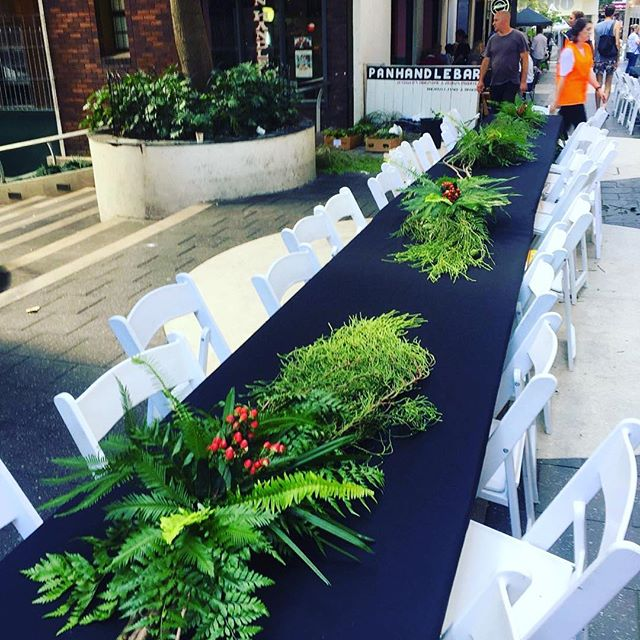 How good did the Llankelly Place Long Table look last night? Flowers by @flowersbymillandco (photo taken during install) thanks lovely Renee! #pottspoint #kingscrossfestival #kingscross #llankellyplace