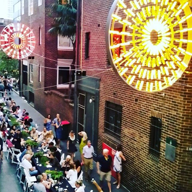 From the top! #kingscrossfestival #llankellyplace #longtable #sydney #sydneylocal #sydneyeats #laneway