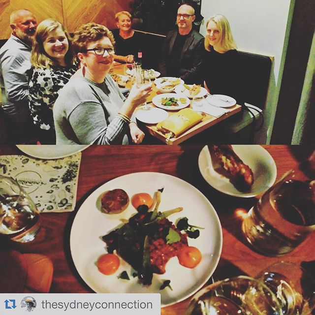 The festival crew enjoying a debrief dinner a few nights ago @watermanslobsterco in the amazing dining laneway #llankellyplace #kingscross #pottspoint