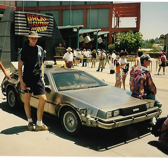 Universal Studios 1995 My first trip to the U.S. Won't forget.  #tbt #tbt❤️ #backtothefuture #california #losangeles #universalstudios #backintheday #firsttime #delorian #1995 #hotsummer #dreamcametrue