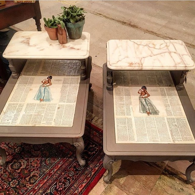The topless tabletop night stands by @salvagedserendipity will spice up your bedroom.
