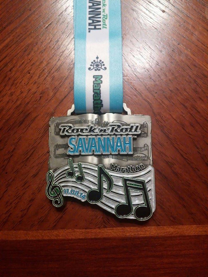 RnR Savannah Marathon Medal