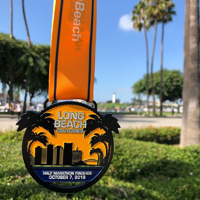 Long Beach Half Marathon medal