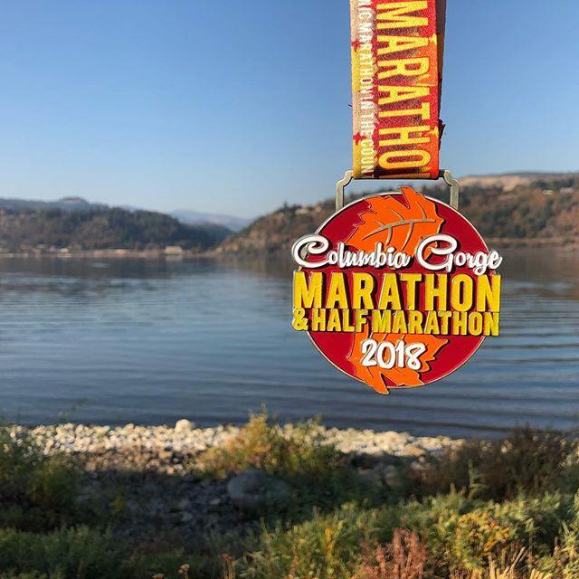 Columbia Gorge Half Marathon medal