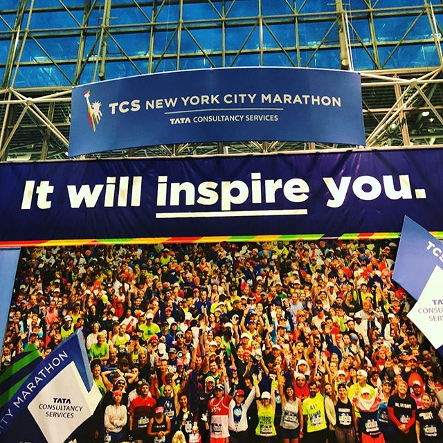 We're here!! #tcsnycmarathon