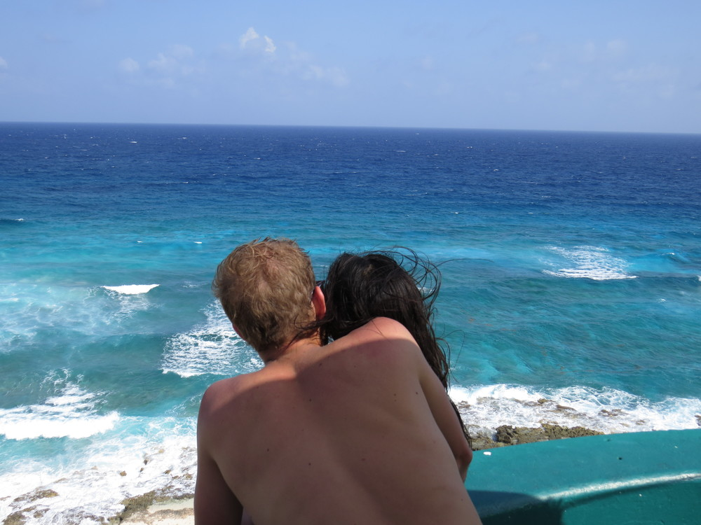 View of the beach from Faro Celarain (Cozumel, Mexico)