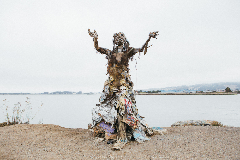 Artists have created some brilliant sculptures out of rubbish.