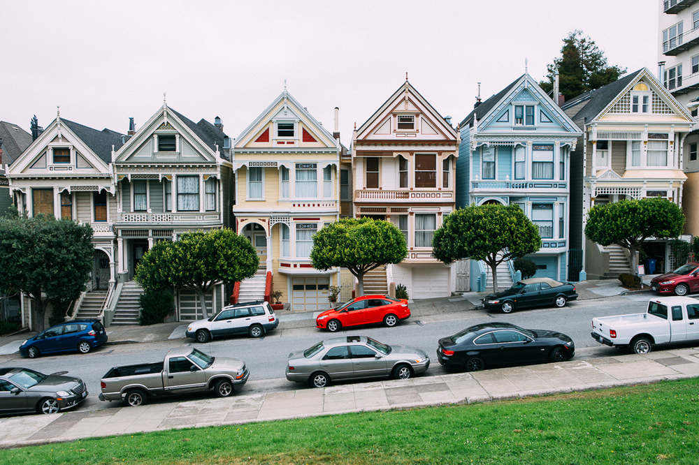 "If you're old enough, you remember the ""Painted Ladies"" from the Full House intro.  If you're younger, the Olsen twins were babies then, and Bob Sagat wasn't funny yet."