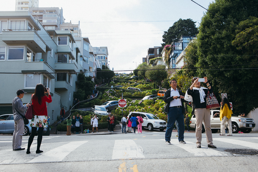 Lombard St is the 2nd curviest street in the city, but has prettier flowers and is easier to find.