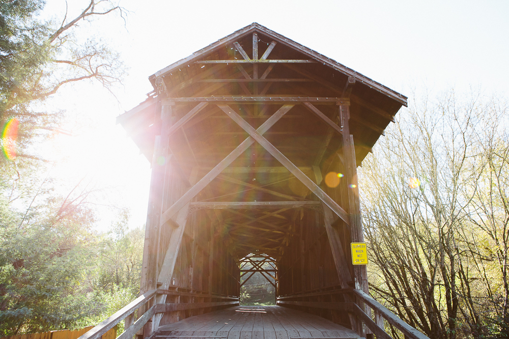 The tallest covered bridge in Felton, CA.