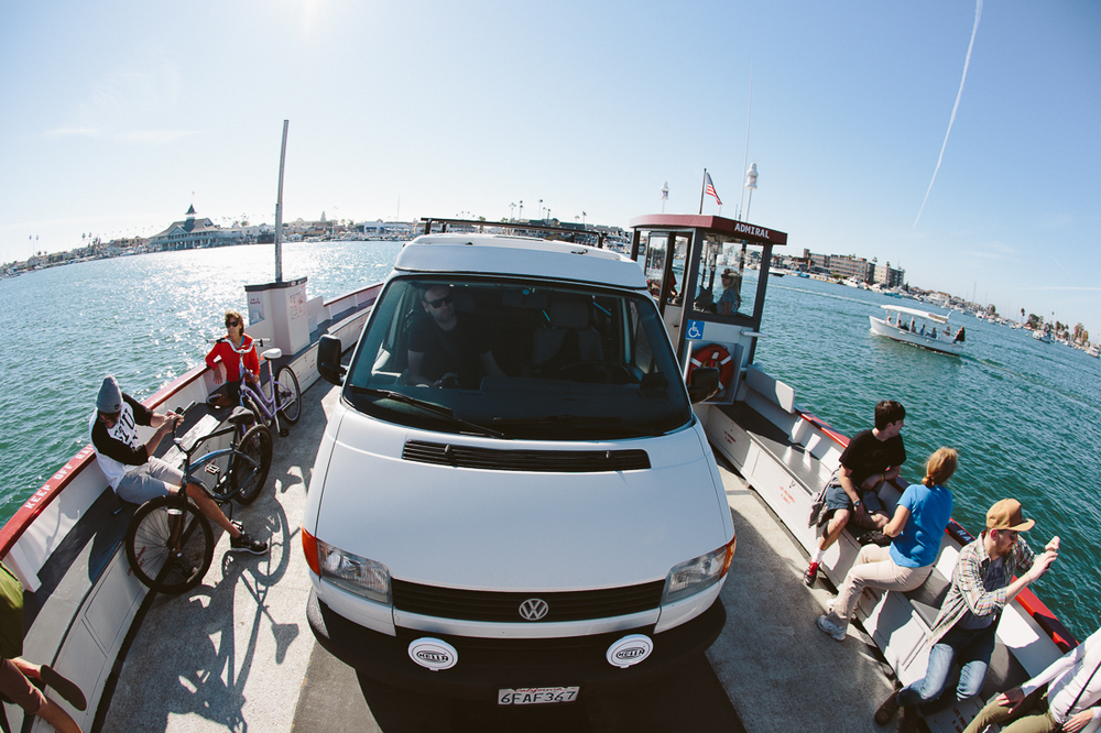 We took the van across the Balboa Island ferry for fun.  We didn't see any actors from Arrested Development unfortunately.