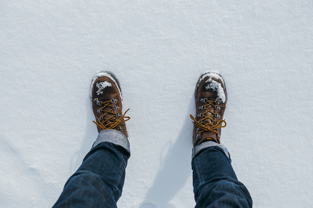 Better than anything.  I love walking through a shallow fresh snow.