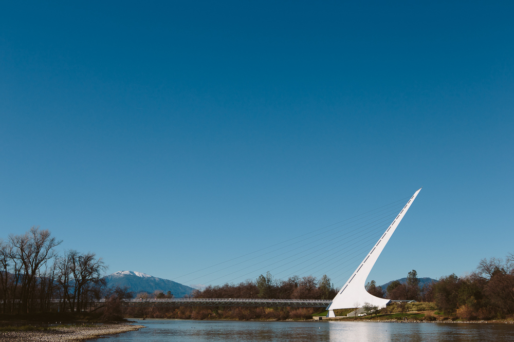 Day 27, mile 2040 .  The Sundial Bridge in Redding, CA.  This is an odd design for this community, I feel it doesn't connect with the mostly redneck culture.  I only say this because I was born in this city and am sure there was a lot of controversy of the funding to develop this project.