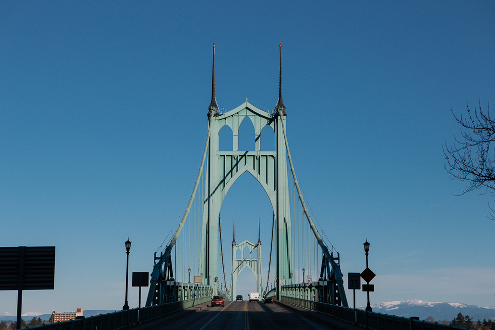 Luv them Oregon bridges.  This one is aptly name St Johns, because it gives me relief from stress just like St Johns Wart does.