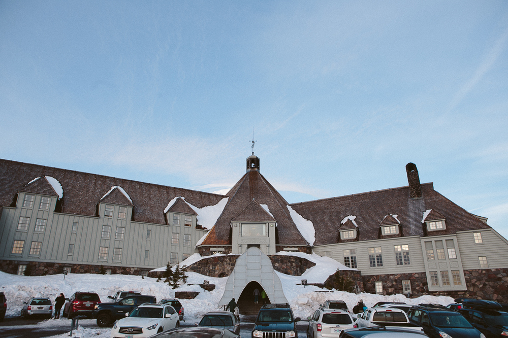 The famous Timberline lodge was the outdoor set of The Shining.  Super sketchy if you know the movie.