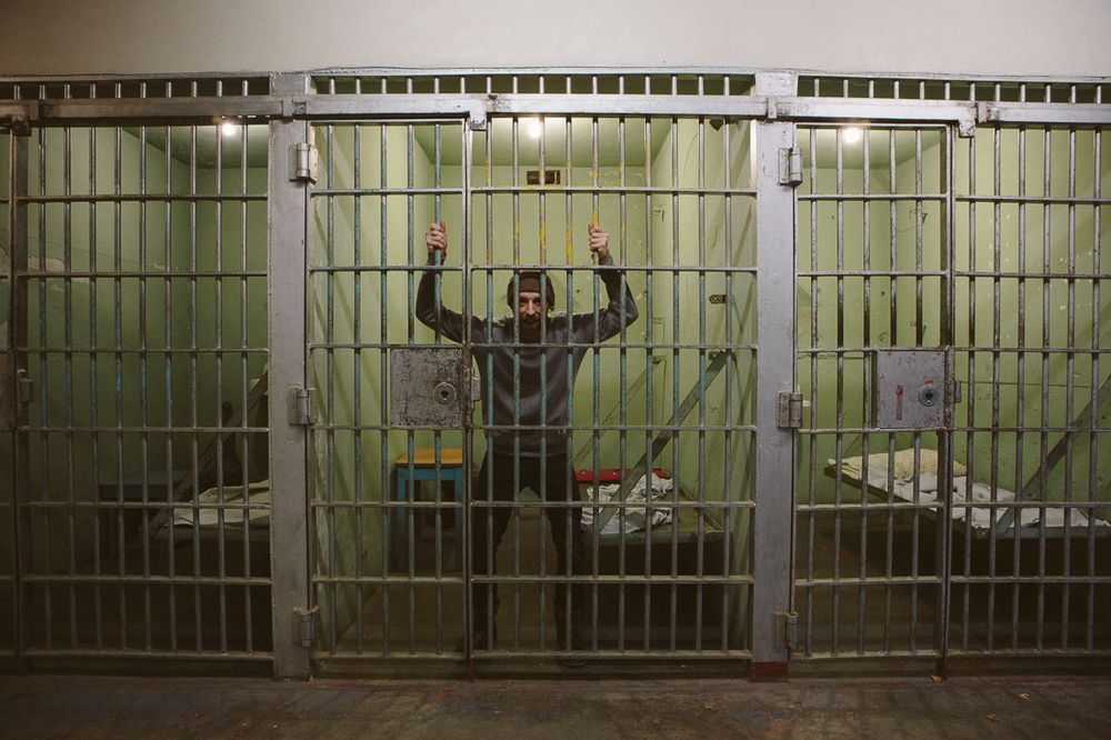 The warden didn't take kindly to me, and locked me up!    *I told them about my adventure and they were nice to open the cell for me to take this pic.  It doesn't happen often so I was hyped.