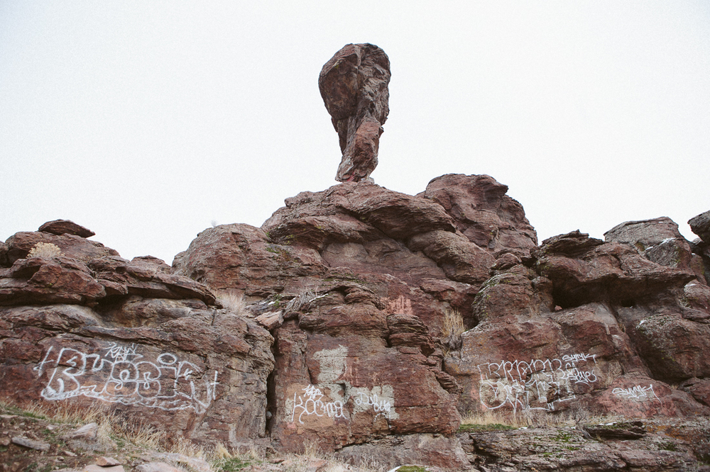 Now this kind of graffiti really makes me mad.  Why would you deface nature like this?!?!  I wish Rocky Balboa was here to fight the Russian who painted it.