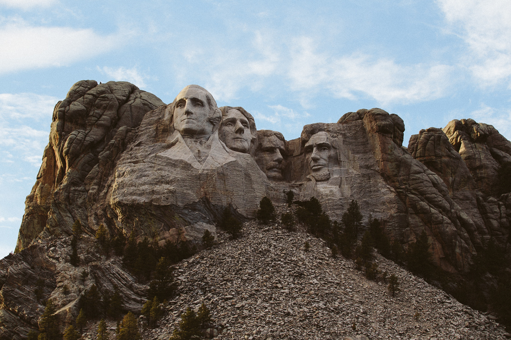 Here is Mt Rushmore in all it's beauty.  What a feat the artist achieved, such an amazing sculpture.