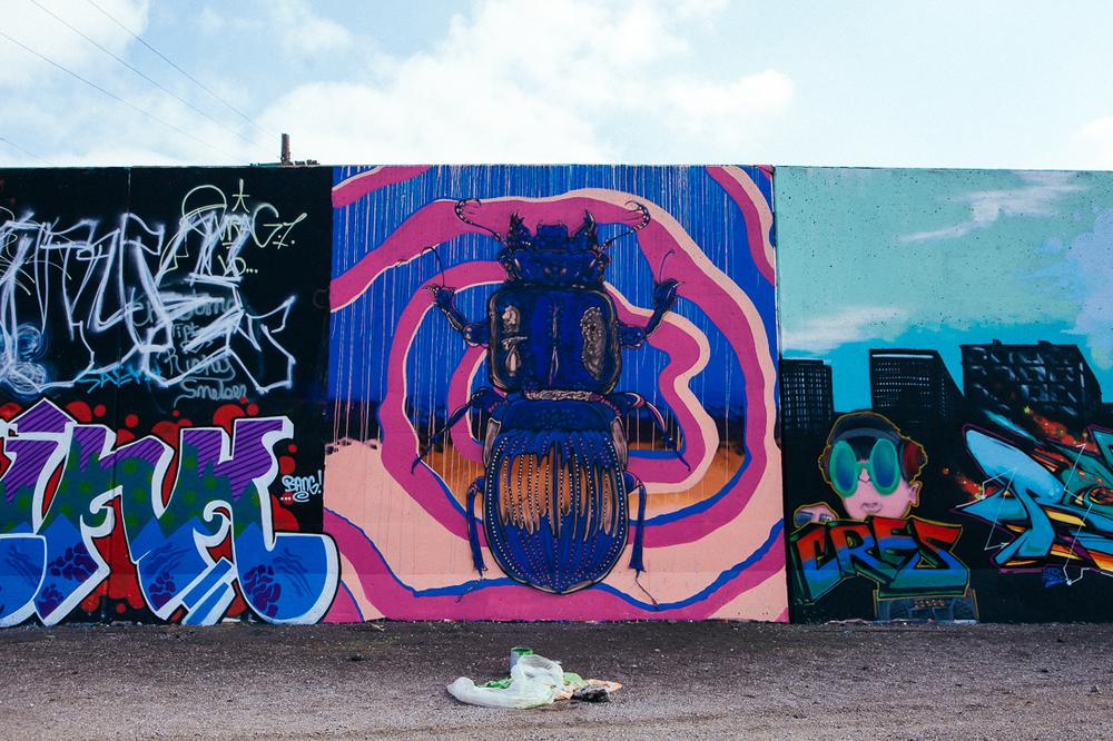 Not all graffiti is script.