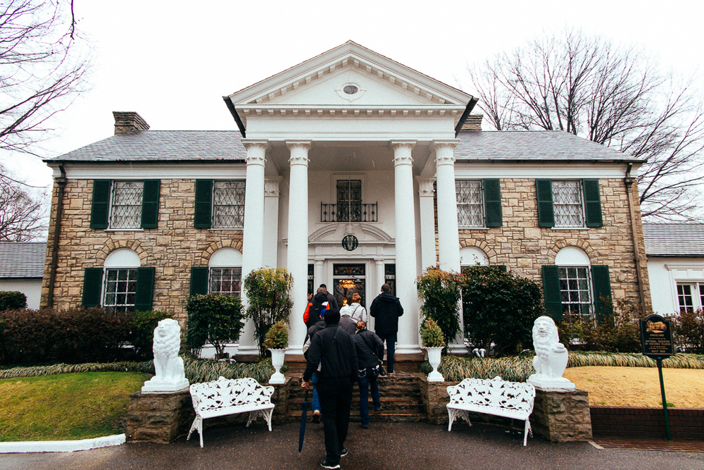 Over in Memphis is Elvis Presley's old mansion, Graceland.