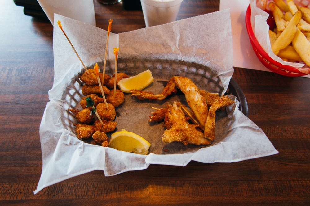 For lunch I got alligator tail and frog legs, because that's the freshest thing in the kitchen.