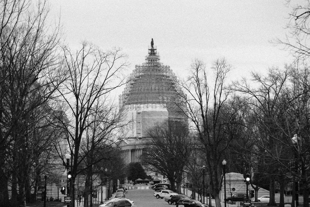 The Capitol Building is under construction. I bet it will look great in a couple months.