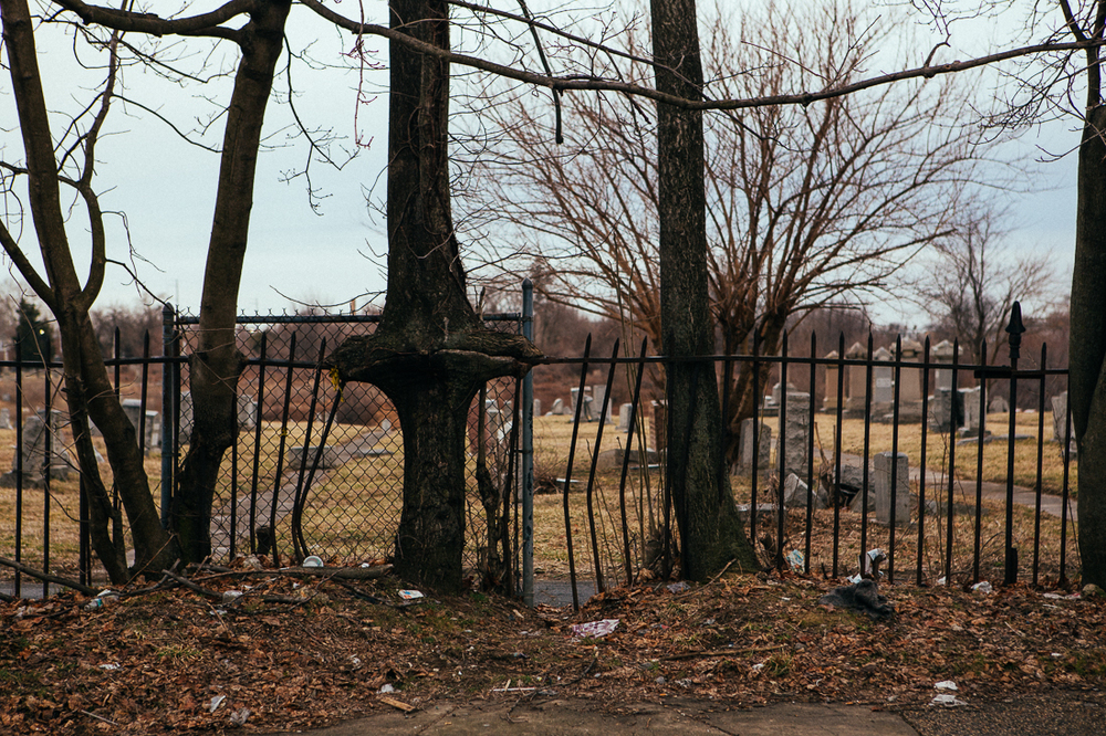 In a sketchy neighborhood in Southwest Philly is a equally sketchy cemetery.