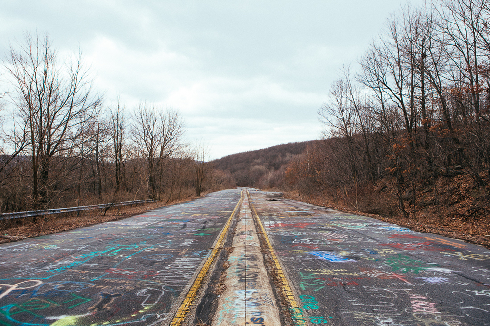 "Guess what this stretch of road is nicknamed? Give up, the ""graffiti highway""."