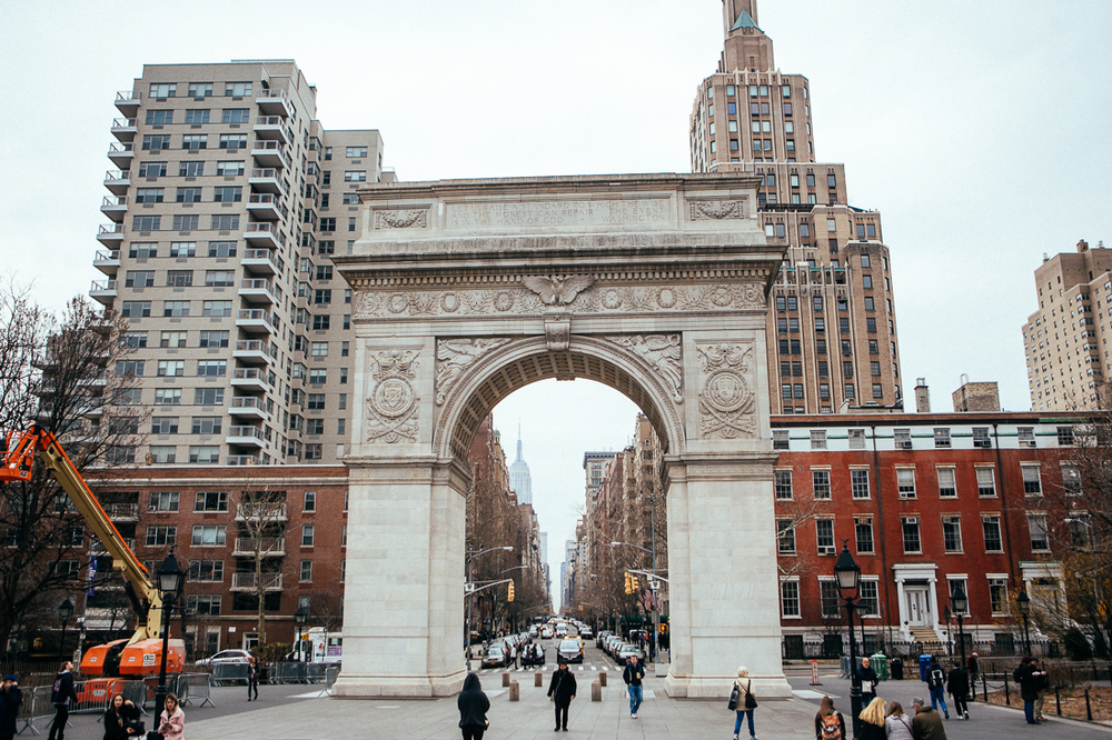 Just a beautiful piece of architecture in a park. No big deal, the  Washington Square Arch. Actually, I love it.