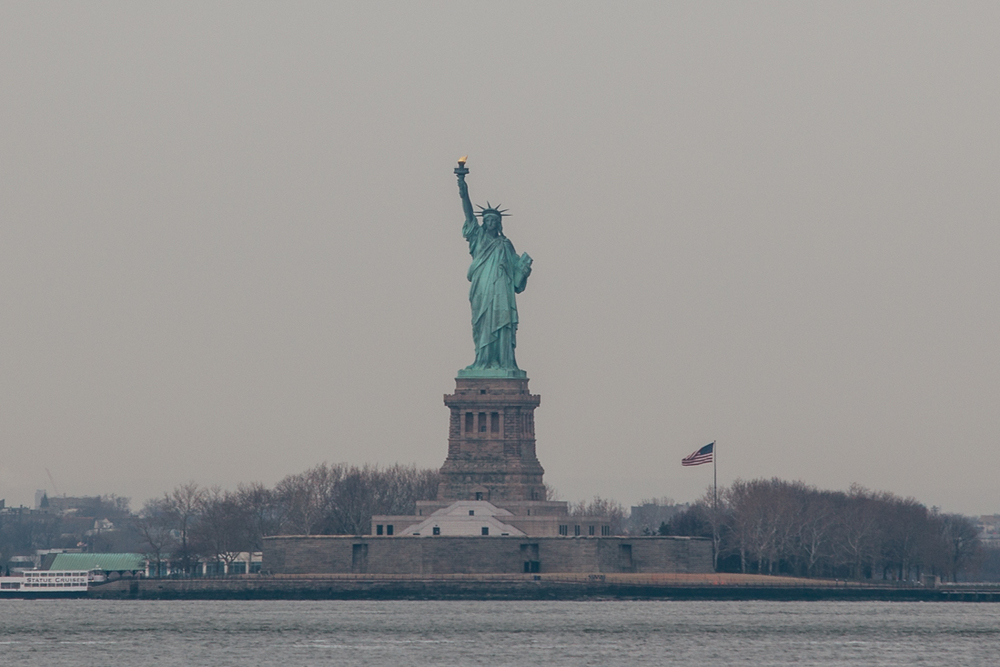 There she is, ol Lady Liberty.