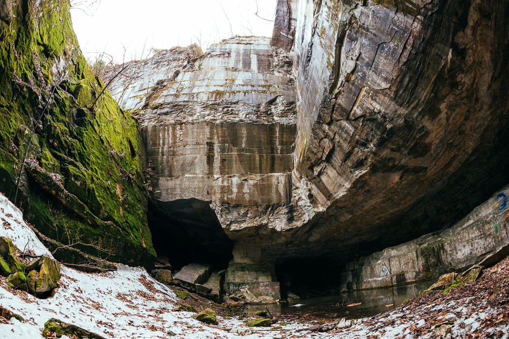 This openshaft is about 150' to the top, and a dead end.