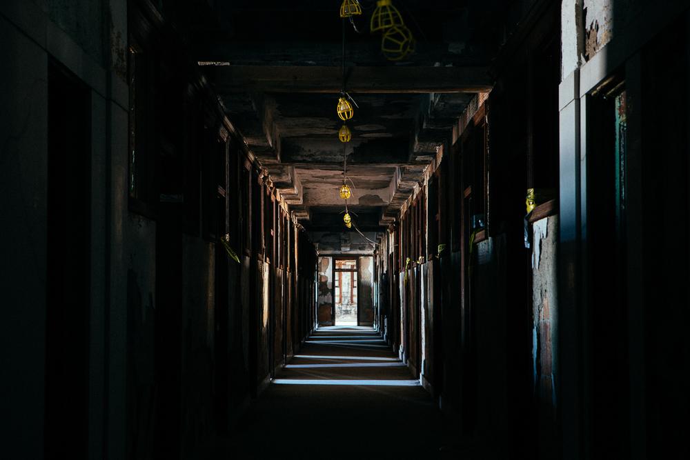 Classic creepy hallway...