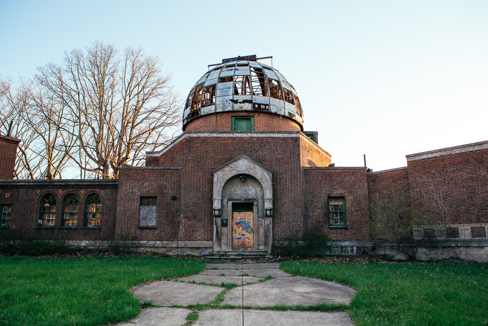 The observatory was in use until the 1950's until Cleveland grew so large the light pollution rendered it useless.