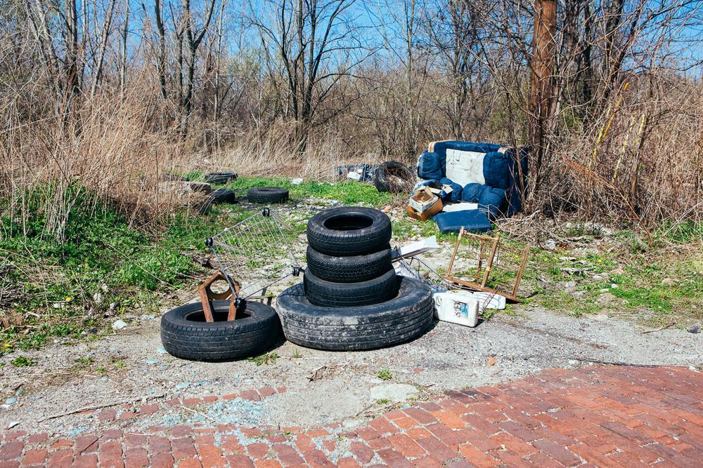A dump, or street art installation?