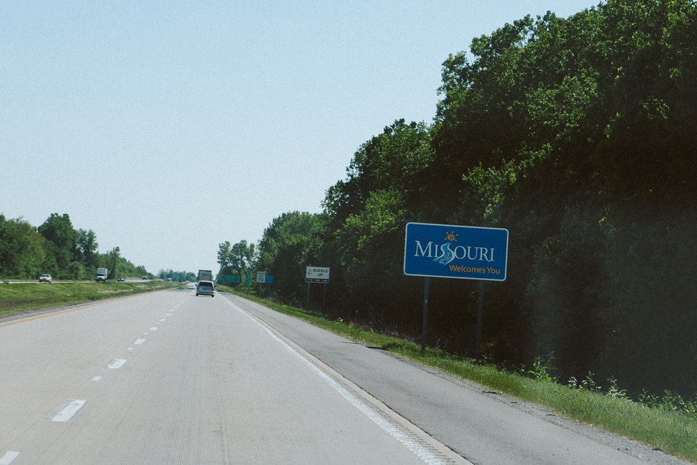 Another quick pass  through Missouri  and over the mighty Mississippi River one more time.